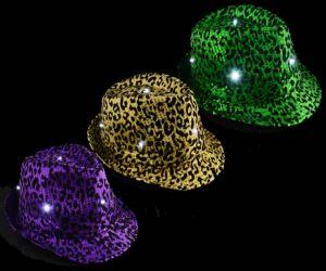 Light up Purple, Green, Gold Sequin Fedora