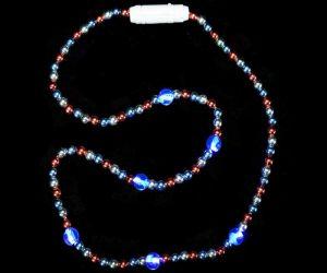 LED RWB Beads Necklace