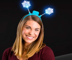Flashing Crystal Snowflake Headband