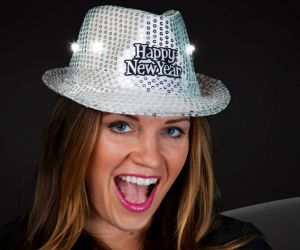 LED Happy New Year Fedora Hat