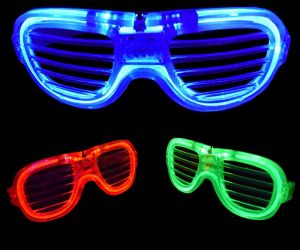 Light up Neon Shutter Shades