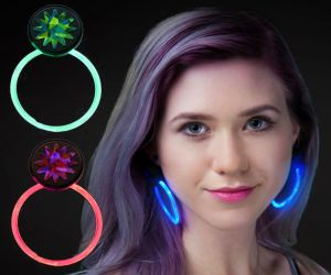 Flashing Hoop Earrings