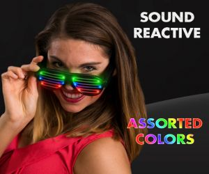 Sound Reactive LED Shutter Shades