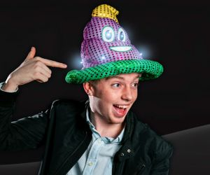 LED Mardi Gras Sequin Poop Hat