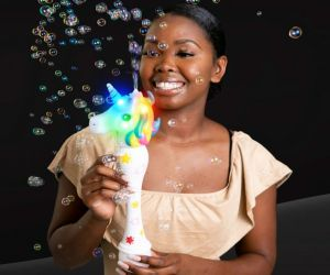 Light up Unicorn Bubble Wand