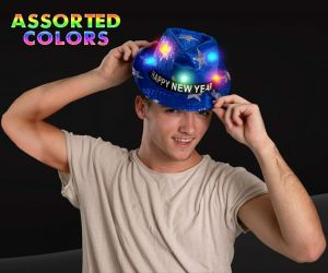 LED Happy New Year Star Fedora