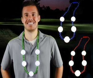 Flashing Golf Ball Necklace