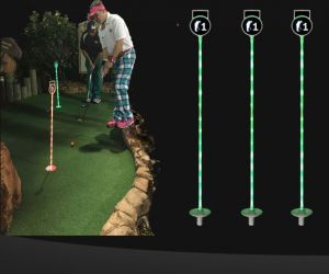 LED Miniature Golf Flag Stick - RBG