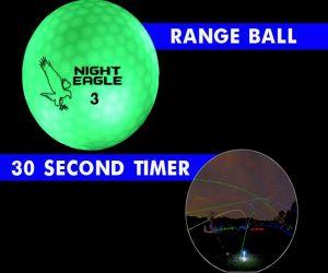 30 Second LED Range Golf Ball - Green