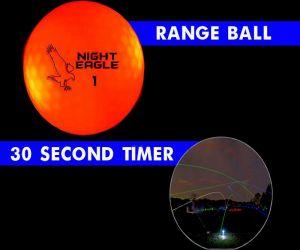 30 Second LED Range Golf Ball - Red