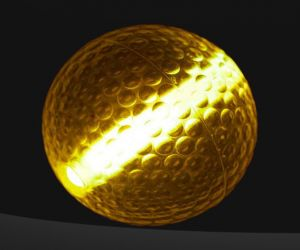 Orange Glow Stick Golf Balls