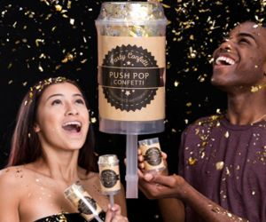 Confetti Push Pops - Gold