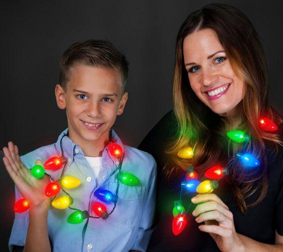 - Light Up Christmas Bulb Necklace