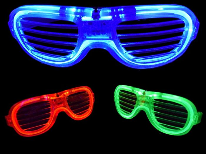 6f5ee01b556 LED Neon shutter shades with 3 user selectable blinking modes