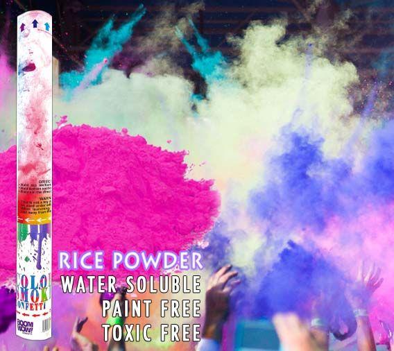 Color Powder Gender Reveal >> Gender Reveal Holi Powder Cannon Pink
