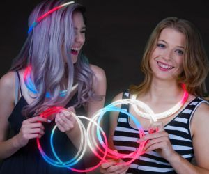 Red White Blue Glow Necklaces  (50/pcs)