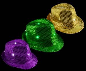 Blinky Mardi Gras Sequin Fedora