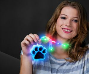Flashing Paw Lanyard Necklaces