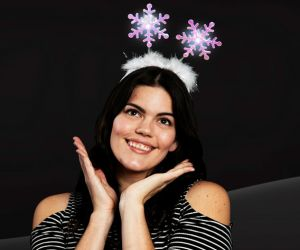 Flashing Snowflake Headband