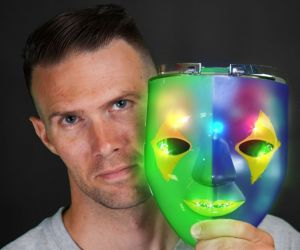 Light up Mardi Gras Mask