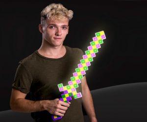 Mardi Gras Flashing Pixel Sword