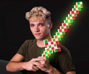 Christmas Light up Pixel Sword