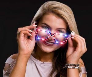 LED RWB Pixel Sun Glasses