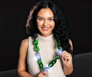 St Patricks Day Flashing Chain Necklace
