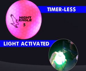 Night Eagle LED Golf Ball - Pink