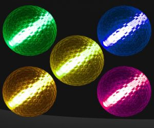 Assorted Colored Glow Night Golf Balls