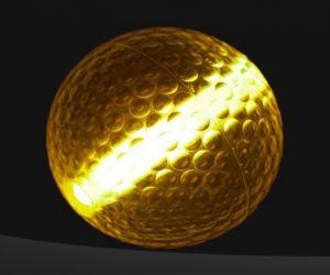 Orange Glow Stick Golf Balls