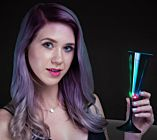 Black Tie LED Champagne Glass