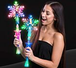 LED Princess Snow Flake Wand