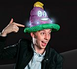 LED Mardi Gras Sequin Poop Hat